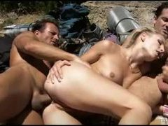 Hikers stop to have a big orgy videos