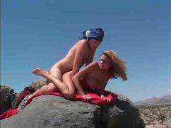 Briana banks blowjob and fuck in desert videos