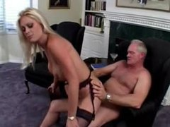 Pierced clit blonde fucked by old guy videos