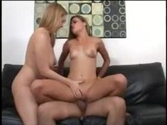 He gets lucky with two hot chicks and cums videos
