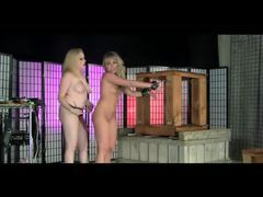 Submissive slut in a box tubes