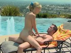Sweet and sexy teen fucks on pool deck movies