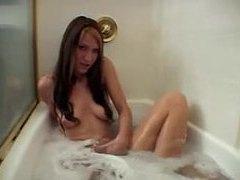 Twin girls take a bath together videos