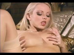 Gorgeous blonde in seamed stockings solo movies at sgirls.net