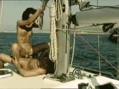 Dude with abs fucks sweaty slut on boat videos