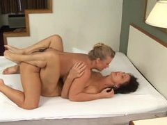 Milf lesbians have missionary strapon sex movies at freekiloclips.com