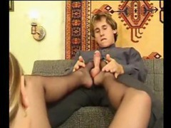 Sensual gal gives a loving footjob movies at kilosex.com