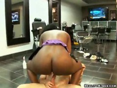 Huge assed black chick bouncing on boner movies at sgirls.net