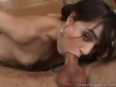 Sloppy wet blowjob from a sexy slut tubes