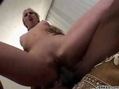 Blonde in pigtails sits on a hard cock movies at kilopics.com