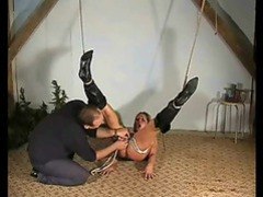 Slut tied up and her pussy played with videos