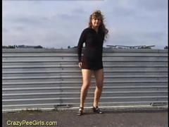 Cute girl peeing in public videos