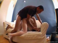 Tiny girl takes cock up the ass videos