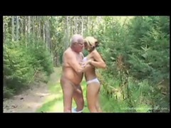 Blowing an old man in the woods videos