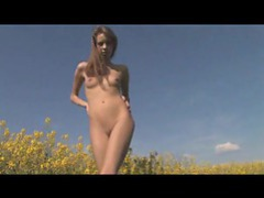 Teen naked amongst the flowers videos