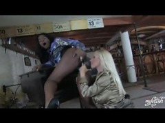 Lusty lesbians in satin blouses movies at freekilosex.com