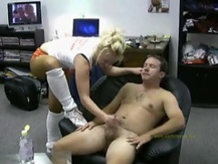 Athletic girl gives handy movies at sgirls.net