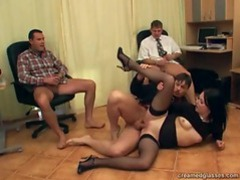 Three guys fucking a slut movies at lingerie-mania.com