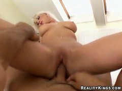 Stacked blonde sliding cock videos