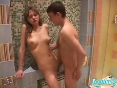 Horny doll drilled in the bathroom videos
