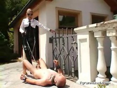 Man tortured by dominatrix outdoor movies at sgirls.net