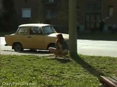 Urinating on a public street videos