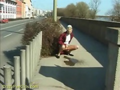 Pissing by the side of the road videos