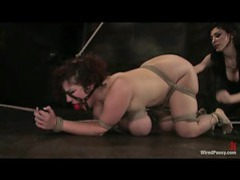 Her pussy gets fisted while she's tied up videos