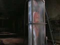 Girl tied up in an ever filling water tank movies at lingerie-mania.com