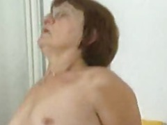 Granny in glasses sitting on dick movies at kilopics.com
