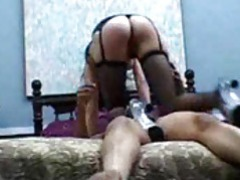 The dominant girl smothers him while he masturbates tubes