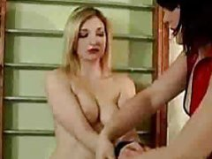 The cute in white stockings gets a femdom spanking movies at find-best-ass.com