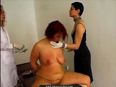 Fat girl experiencing medical pain clip