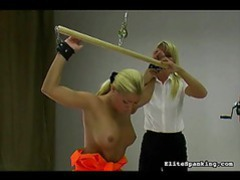 Tied up girl is whipped on her soft back videos