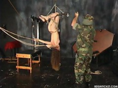 The masked man puts her in extreme bondage movies at find-best-lesbians.com