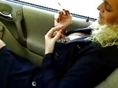 Business babe smoking in the car movies at find-best-ass.com
