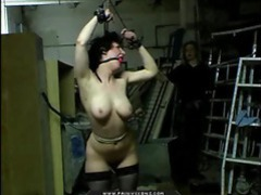 Tied up girl is whipped and it hurts videos