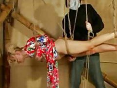 Sexy blonde girl in rope bondage suspension movies at find-best-lesbians.com