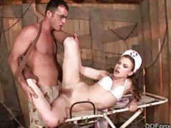 Naughty nurse gives footjob and gets fucked movies at find-best-tits.com