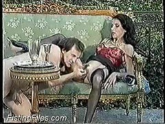 Older chick in black stockings fisted movies at lingerie-mania.com