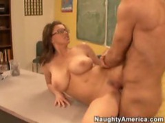 Sexy teacher with big tits fucked by a hard cock clip