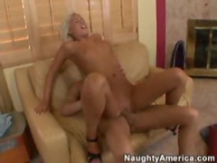 Slim and sexy blonde rides a fuck stick videos