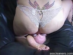 Chick with a very big ass sitting on his face tubes