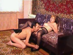 He opens her pantyhose and eats her pussy movies