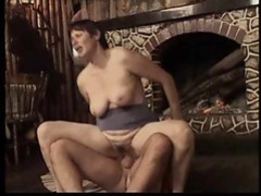Hard cock slamming up into a hairy old pussy movies at kilomatures.com