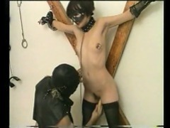 Tied up girl has her pussy fucked with a dildo videos