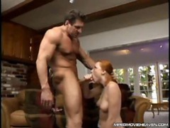 Sexy redhead gives blowjob until his cum erupts movies at kilotop.com