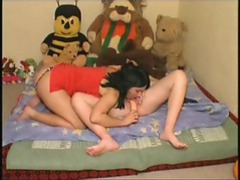 Lesbian fucks her pregnant lover with a big toy videos