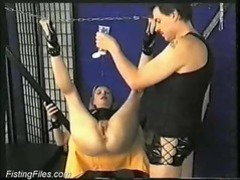 Fetish slut gets fisted in her wet pussy videos