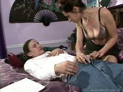 Milf peels off panties for hot sex videos